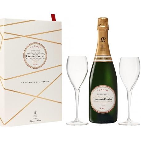 Šampanas LAURENT PERRIER LA CUVEE BRUT 0,75 L su 2 taurėmis